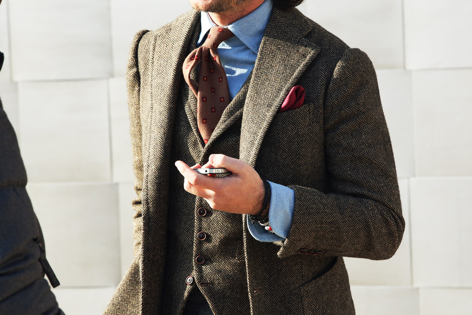 Pitti Uomo, Street Style, Fall/Winter 2013, menswear, suit, tweed,florence, Italy