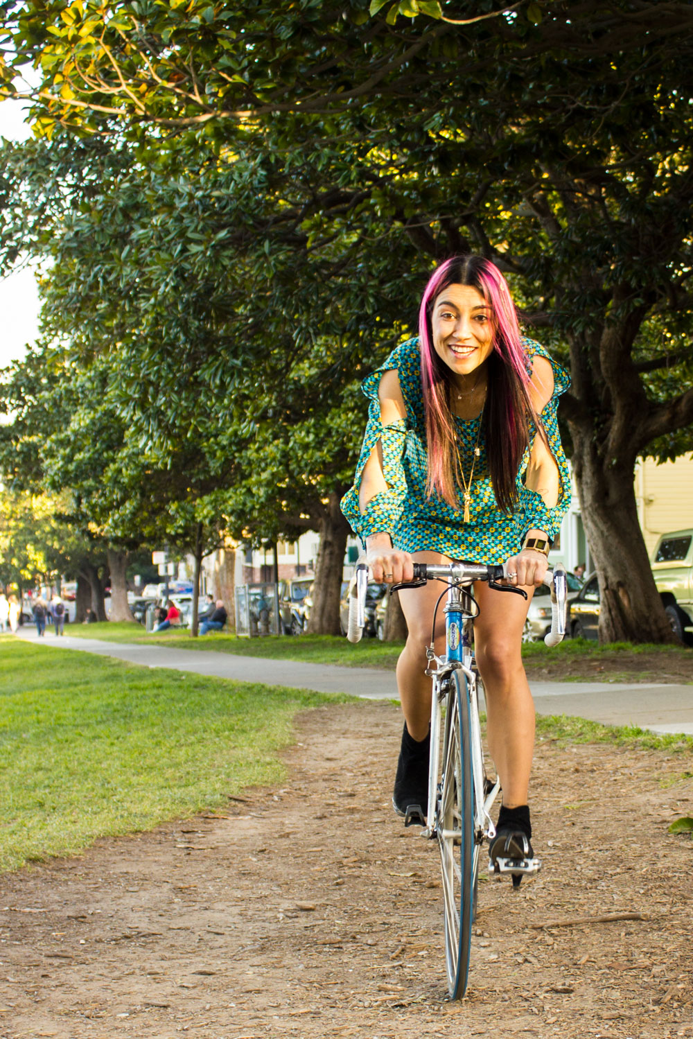 Elisa Rides her Bike