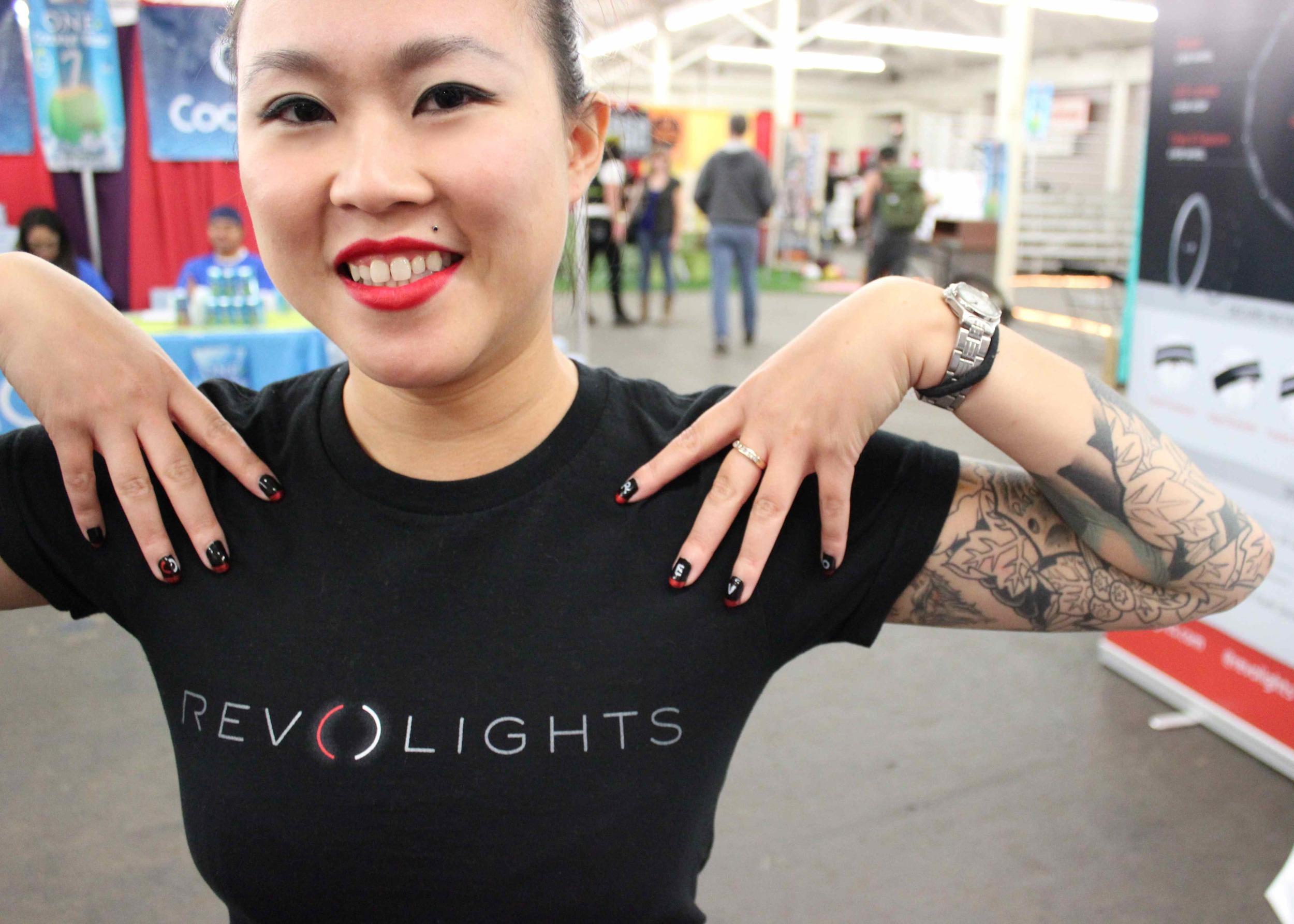 nail art, revolights, Jenn Tran, tattoos, tattoo, tattoo sleeve, asian girl, red lipstick
