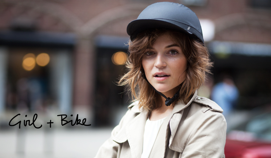 Cute Girl, Cute Bike Helmet