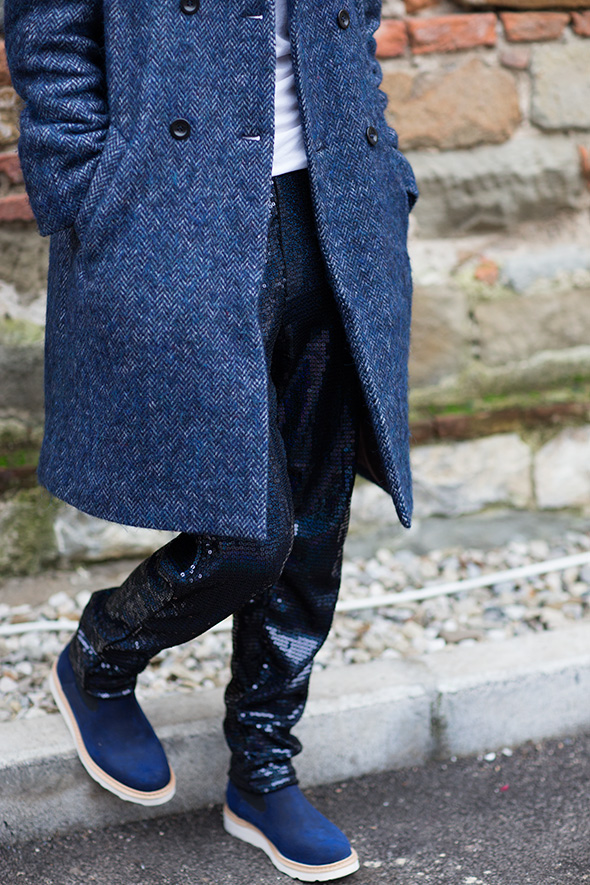 tweed, sequins, Pitti Uomo, Street Style, Fall/Winter 2013, menswear