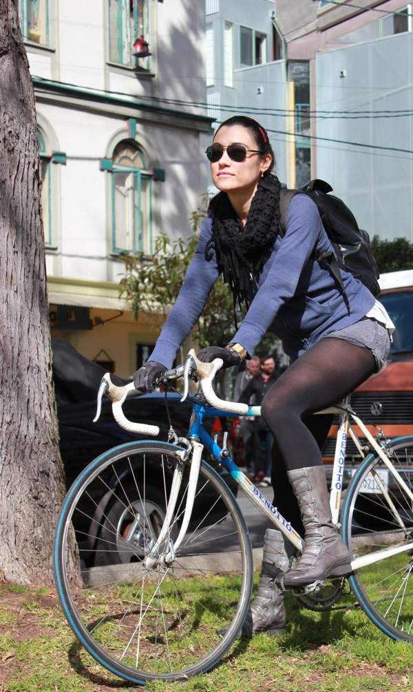 bikepretty, bike pretty, cycle style, cycle chic, bike model, girl on bike, bike fashion, bicycle fashion, bicycle fashion blog, cute bike, vintage, girls on bikes, model on bike, elisa sassi, benotto bike