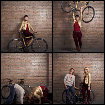 bikepretty, bike pretty, cycle style, cycle chic, bike model, bike fashion, cute bike, bamboo bike, liquid, spinster, artcrank, art crank, brick wall, niners, forty niners, san francisco