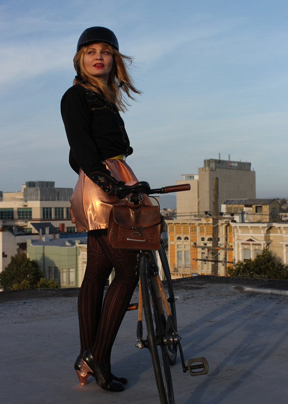 bikepretty, bike pretty, cycle style, cycle chic, bike model, girl on bike, bike fashion, bicycle fashion, bicycle fashion blog, cute bike, vintage, girls on bikes, model on bike, bike girls cute, copper heels, bike in a skirt