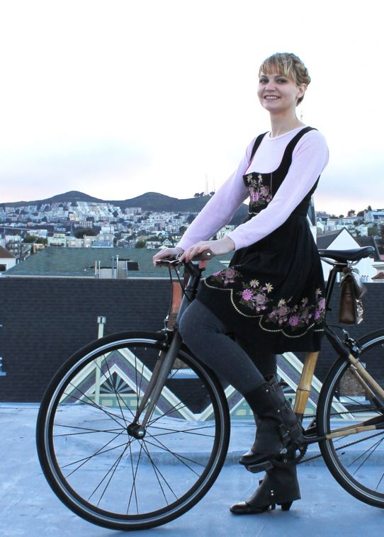 bikepretty, bike pretty, cycle style, cycle chic, bike model, girl on bike, bike fashion, bicycle fashion, bicycle fashion blog, cute bike, vintage, girls on bikes, model on bike, street style, braids how to, milkmaid, heidi braids, german, bavarian, dirndl