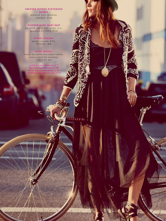 bikepretty, bike pretty, cycle style, cycle chic, bike model, girl on bike, bike fashion, bicycle fashion, bicycle fashion blog, cute bike, vintage, girls on bikes, girl on a bike, model on bike, street style, free people, february 2013
