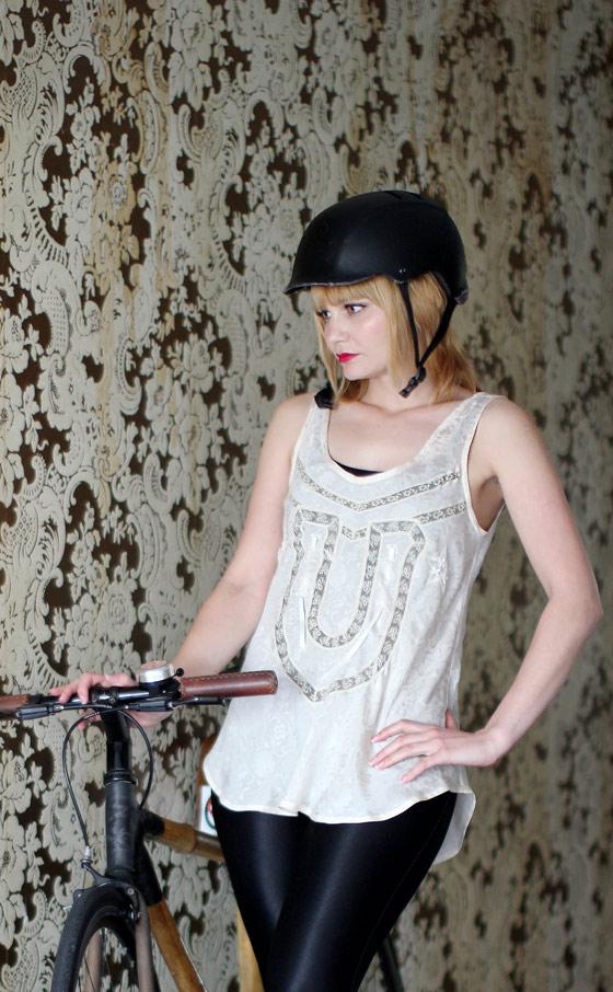 bikepretty, bike pretty, cycle style, cycle chic, bike model, girl on bike, bike fashion, bicycle fashion, bicycle fashion blog, honey cooler handmade, girls on bikes, model on bike, bike girls cute, honey cooler, chemise, lingerie, outfit ideas, girls on bikes
