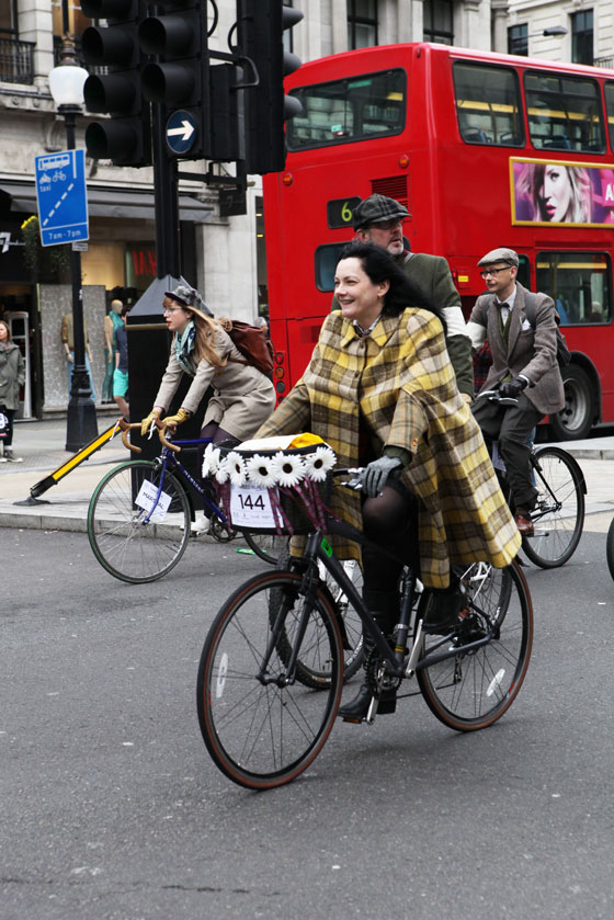 A Plaid Cape, Spotted at the London Tweed Run 2013
