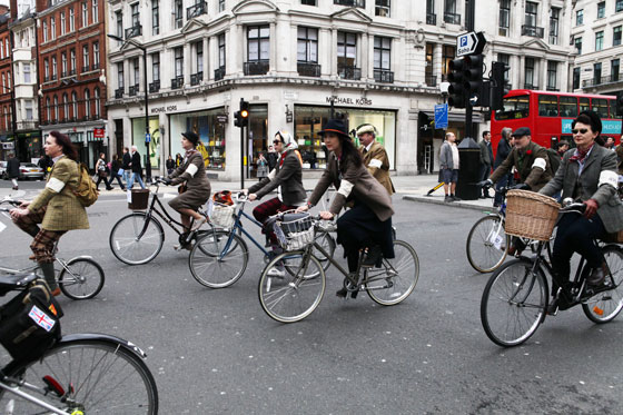 Shini Park at the London Tweed Run 2013
