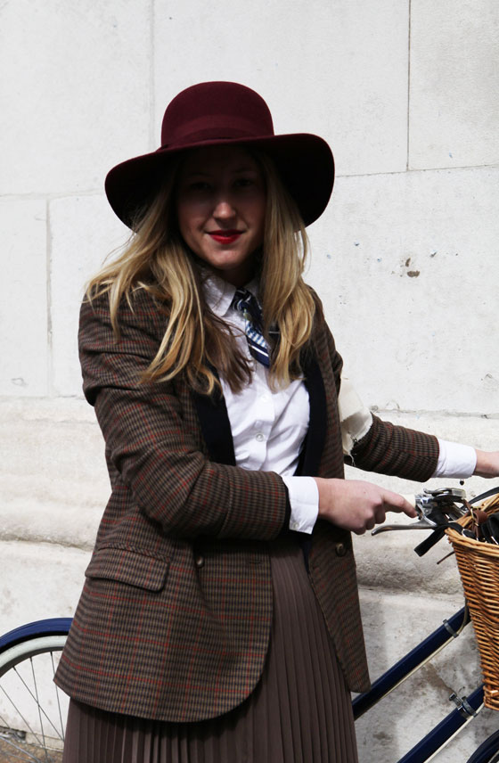 A stylish wool outfit at the London Tweed Run, 2013