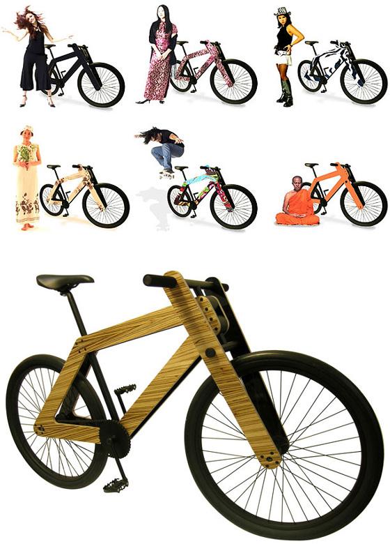 chic bicycle, bikepretty, bike pretty, cycle style, cycle chic, bike chic, bike model, wood bike, sandwichbike, plywood bike, flatpack, flat pack bike, design, dutch design, concept bike