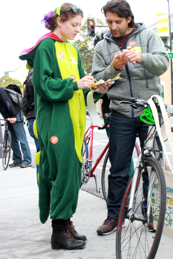 bike pretty, bikepretty, pretty bike, girls on bikes, outfit ideas, cycle style, fashion bike, bike fashion, bike chic, bike style, girl on bike, cycle chic, bike to work, bike to work day, san francisco, street style, dragon costume, dinosaur costume, bike to work dragon, san francisco bicycle coalition