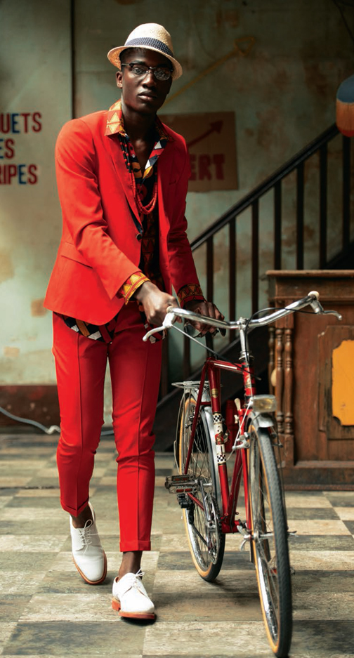 bike fashion, bike fashion for men, fashion for men, menswear, suit, african print, louis vuitton, printed suit, colorful mens, bike pretty, bikepretty, pretty bike, cycle style, fashion bike, bike chic, bike style, cycle chic, bike in a suit, commuter bike suit