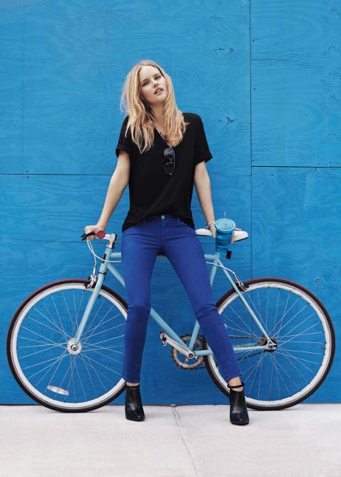 bike pretty, bikepretty, pretty bike, girls on bikes, cycle style, fashion bike, bike fashion, bike chic, bike style, girl on bike, cycle chic, rebecca minkoff, rebecca minkoff denim, denim, girl on a bike, bike girl, bike model, jeans, bike jeans, blonde on bike