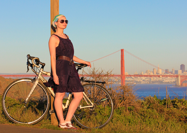 bike pretty, bikepretty, pretty bike, girls on bikes, cycle style, fashion bike, bike fashion, bike chic, bike style, girl on bike, cycle chic, 7 reasons to love san francisco, love san francisco, hawk hill, golden gate bridge, bike golden gate bridge, marin, skyline, city