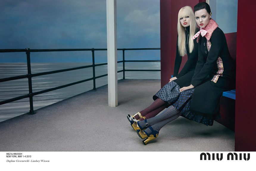 miu-miu-fall-winter-2013-Womenswear-Campaign-bike-inez-vinoodh-lindsey-wixson