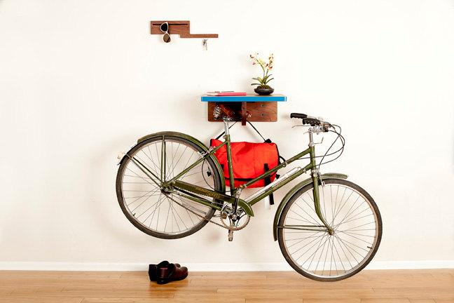 how to store bikes, how to store a bike, bikes at home, dutchie bike, bike storage, hanging bike rack, wood bike shelf, cycle parking, bike parking, bicycle parking, bikes on wall, wooden bike rack, bikes at, store bikes at home, bike in apartment, bike pretty, cycle style, bike fashion, bike style, cycle chic