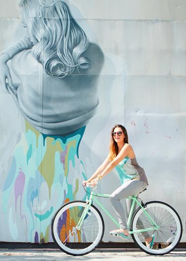 girl on bike, bike fashion, street style, bike riding, bike riding girl, bikepretty, miami style, bike babe, pretty girl bikes, vividly, art inspired fashion, johnny robles, art and fashion