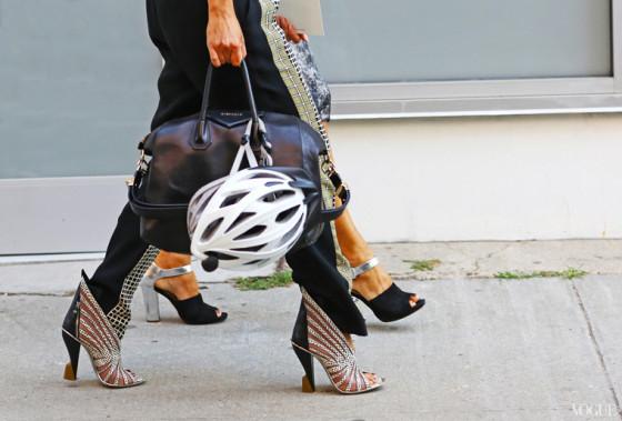 New York Fashion Week Street Style Bike Pretty