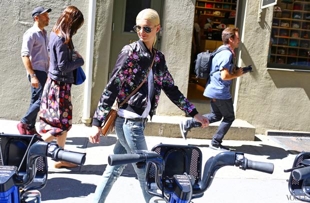 bike pretty, bikepretty, pretty bike, girls on bikes, cycle style, fashion bike, bike fashion, bike chic, bike style, cycle chic, new york fashion week, 2014, nyfw14, nyfw, street style, new york, fashion week, citibike, bike share