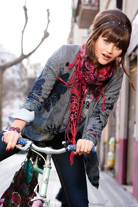 bike pretty, bikepretty, pretty bike, girls on bikes, cycle style, fashion bike, bike fashion, bike chic, bike style, cycle chic, desigual, theres a bike in it, fall winter 2013, bike model, fashion
