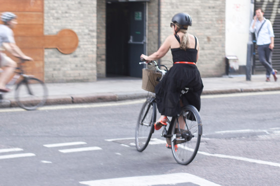 bike pretty, bikepretty, pretty bike, girls on bikes, cycle style, fashion bike, bike fashion, bike chic, bike style, girl on bike, cycle chic, elegant woman rides a bike, black dress, orange accessories, london cycle chic