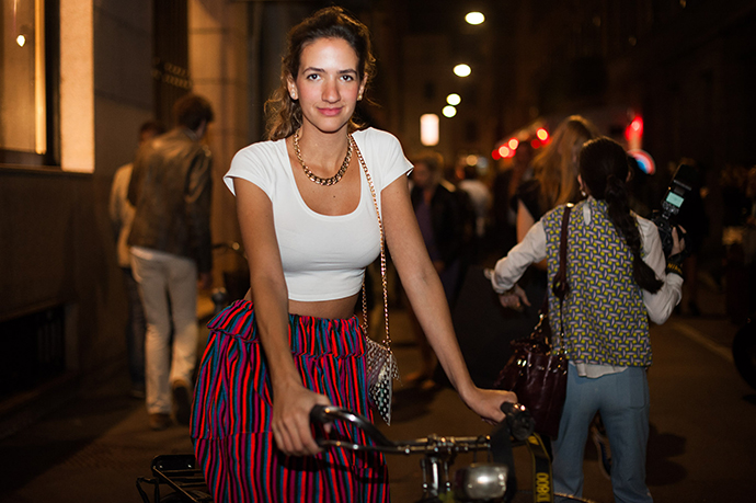 Andrea Ruggeri, milan fashion week, spring summer 2014, street style, milan street style, fashion week, mfw, ss14, milan, bike pretty, bikepretty, pretty bike, cycle style, fashion bike, bike fashion, bike chic, bike style, cycle chic, outfit ideas