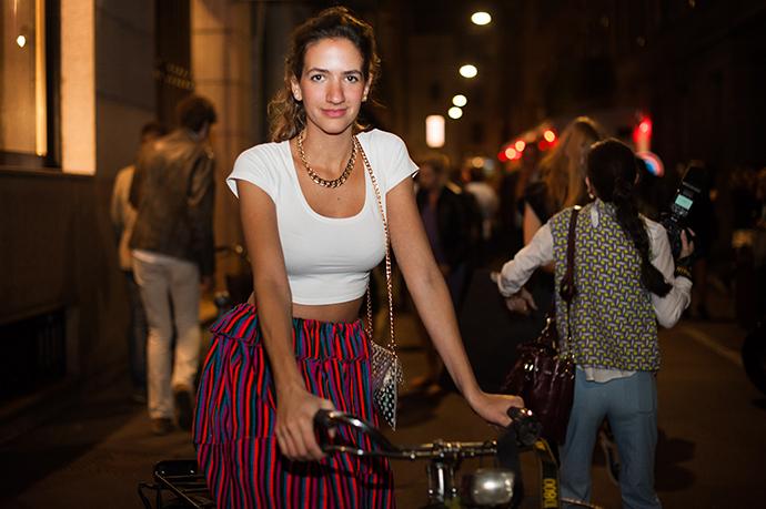 Andrea Ruggeri, milan fashion week, spring summer 2014, street style, milan street style, fashion week, mfw, ss14, milan, bike pretty, bikepretty, pretty bike, cycle style, fashion bike, bike fashion, bike chic, bike style, cycle chic, outfit ideas