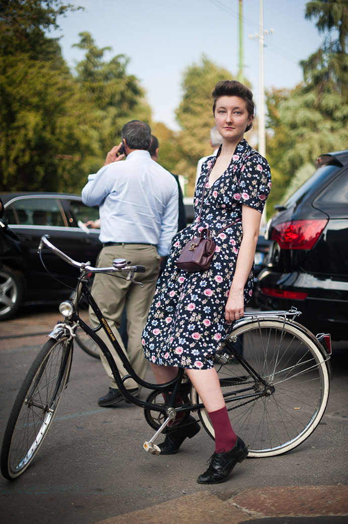 Andrea Ruggeri, milan fashion week, spring summer 2014, street style, milan street style, fashion week, mfw, ss14, milan, olmo bike, bike pretty, bikepretty, pretty bike, cycle style, fashion bike, bike fashion, bike chic, bike style, cycle chic, outfit ideas