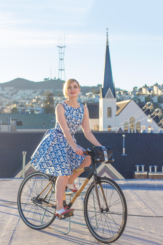 Bike Fashion - Luck Be A Lady Dress from Modcloth, San Francisco CA