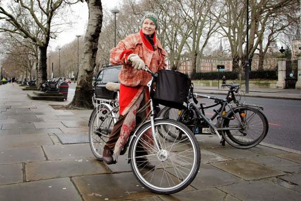 Vivienne-Westwood-on-her-bike