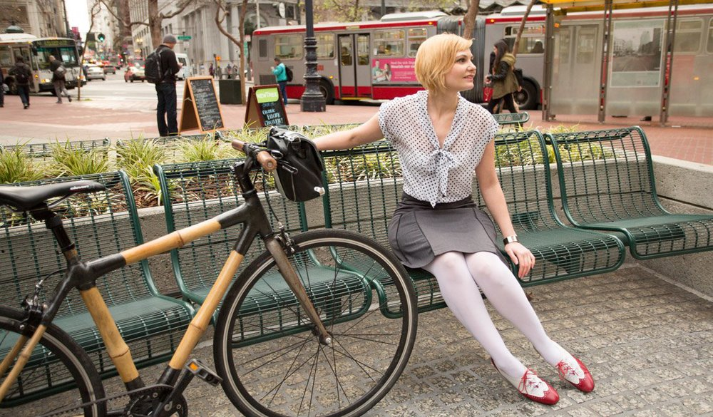 Bamboo Bike and a BetaBrand Bike To Work Skirt