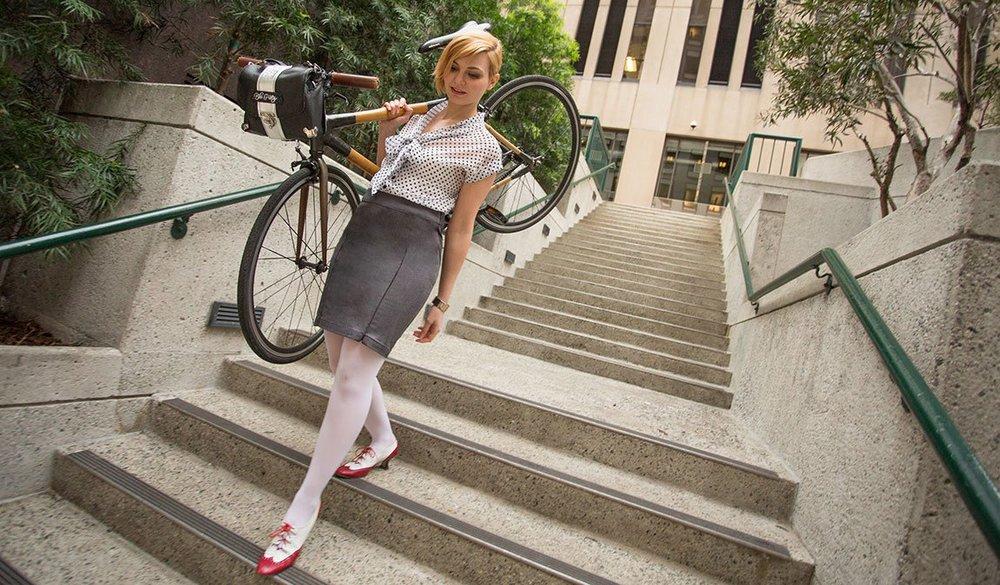 Bike Pretty Satchel and the Bike to Work Skirt