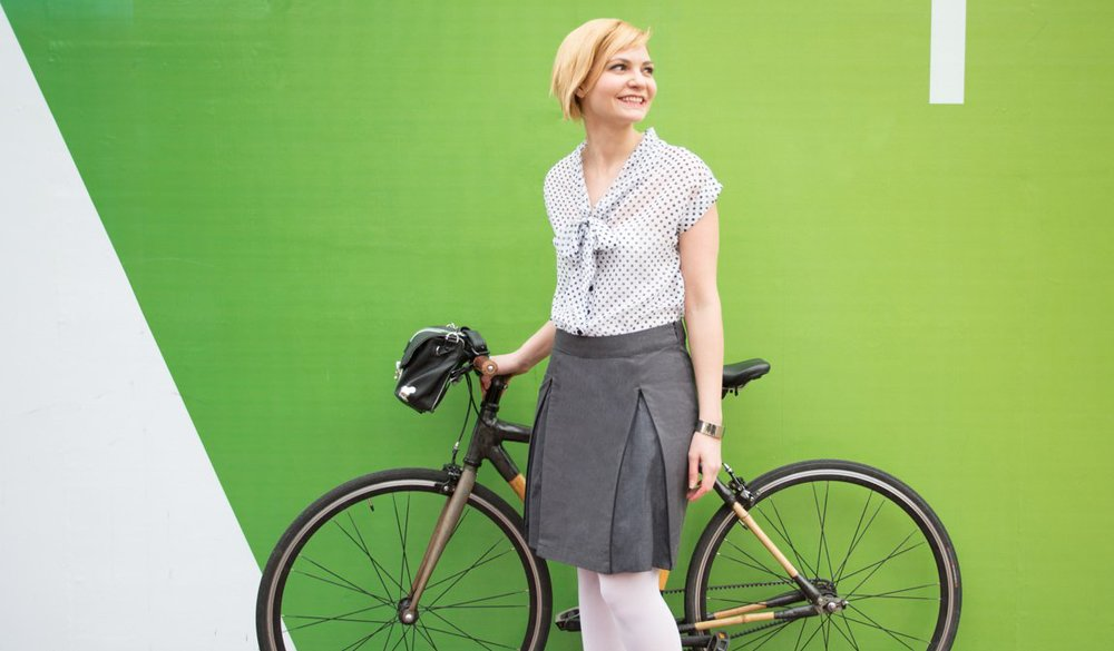 Bike Skirt with Zippers