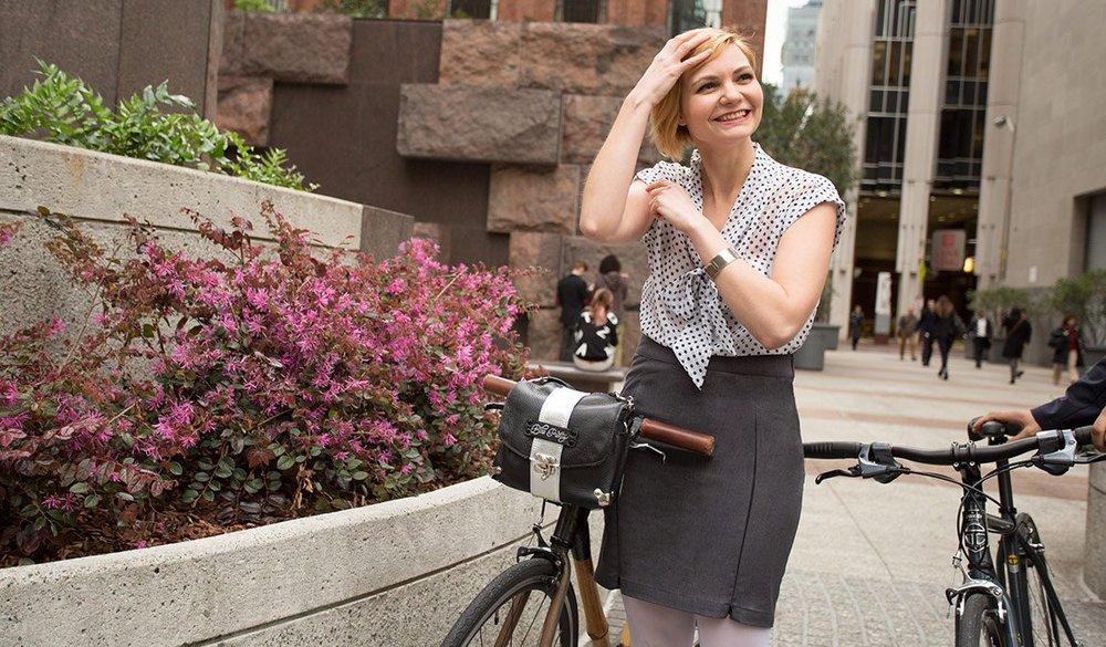 The Bike Pretty Satchel by Handbag Designer Melissa Davies