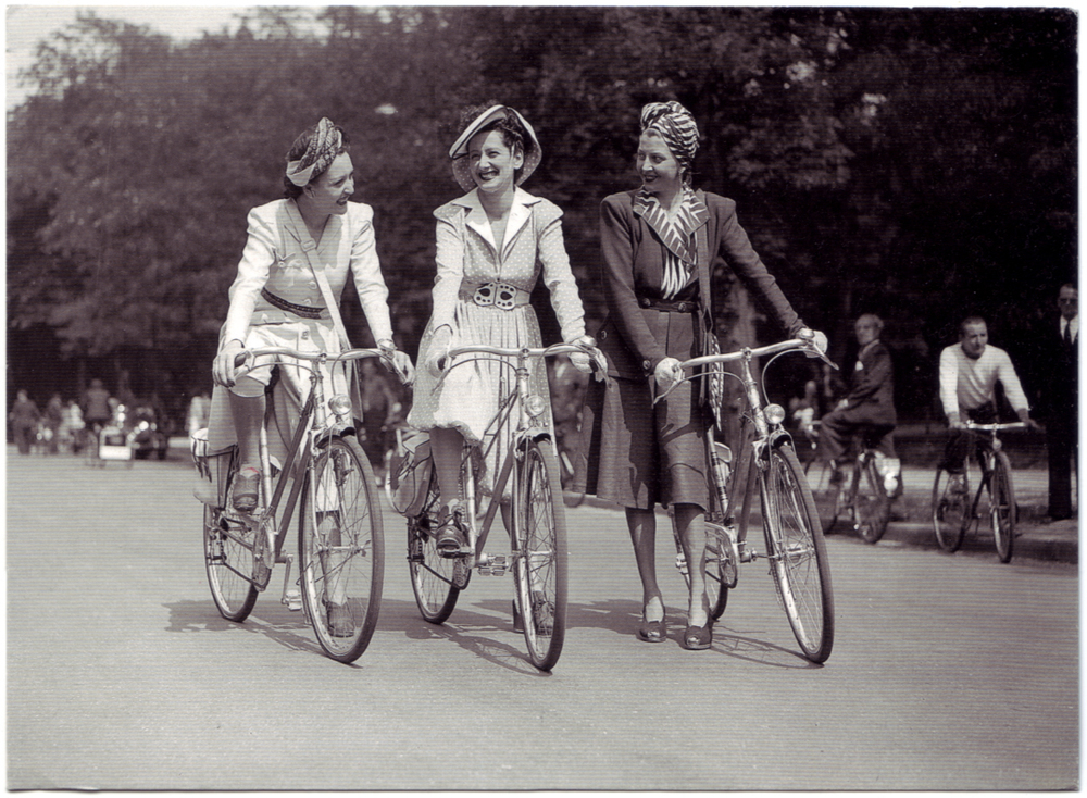 Elegance on a Bicycle Day June 1942