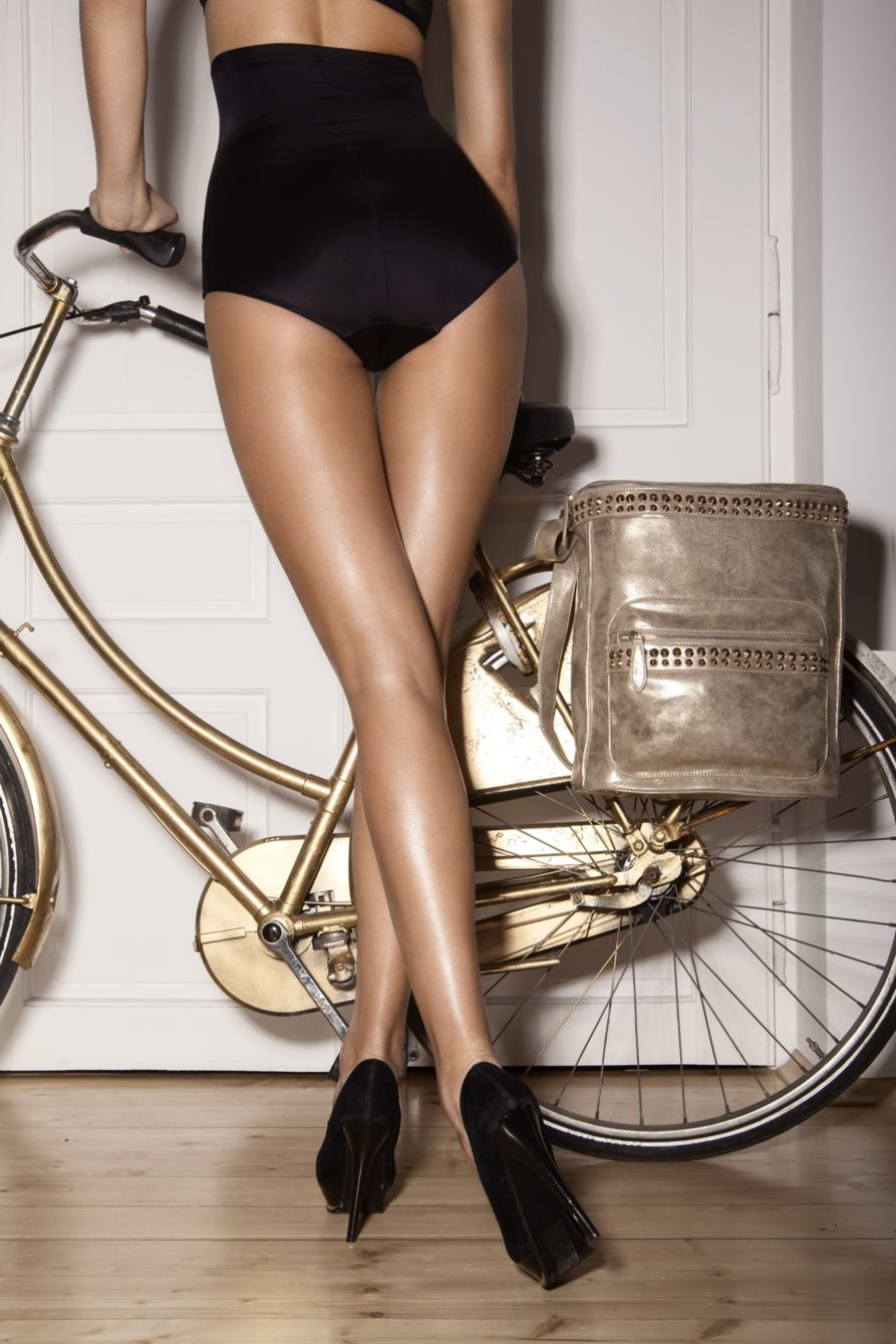 Lovely gold bike.