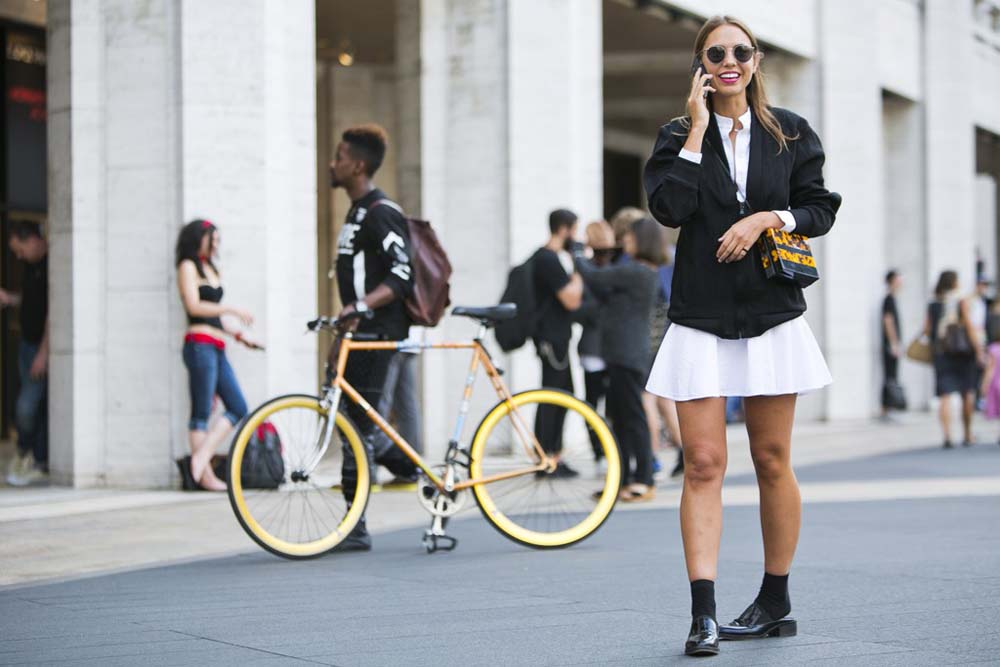 ...continuing with the black & white & yellow theme.  Photo: Ryan Kibler for WWD, NYC.
