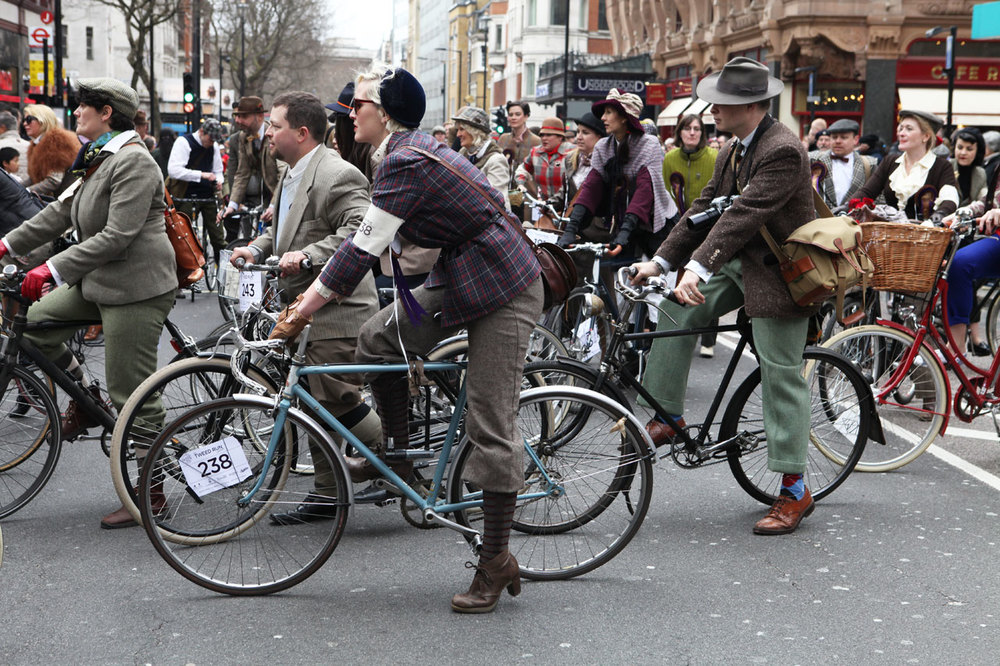 At the London Tweed Run 2013