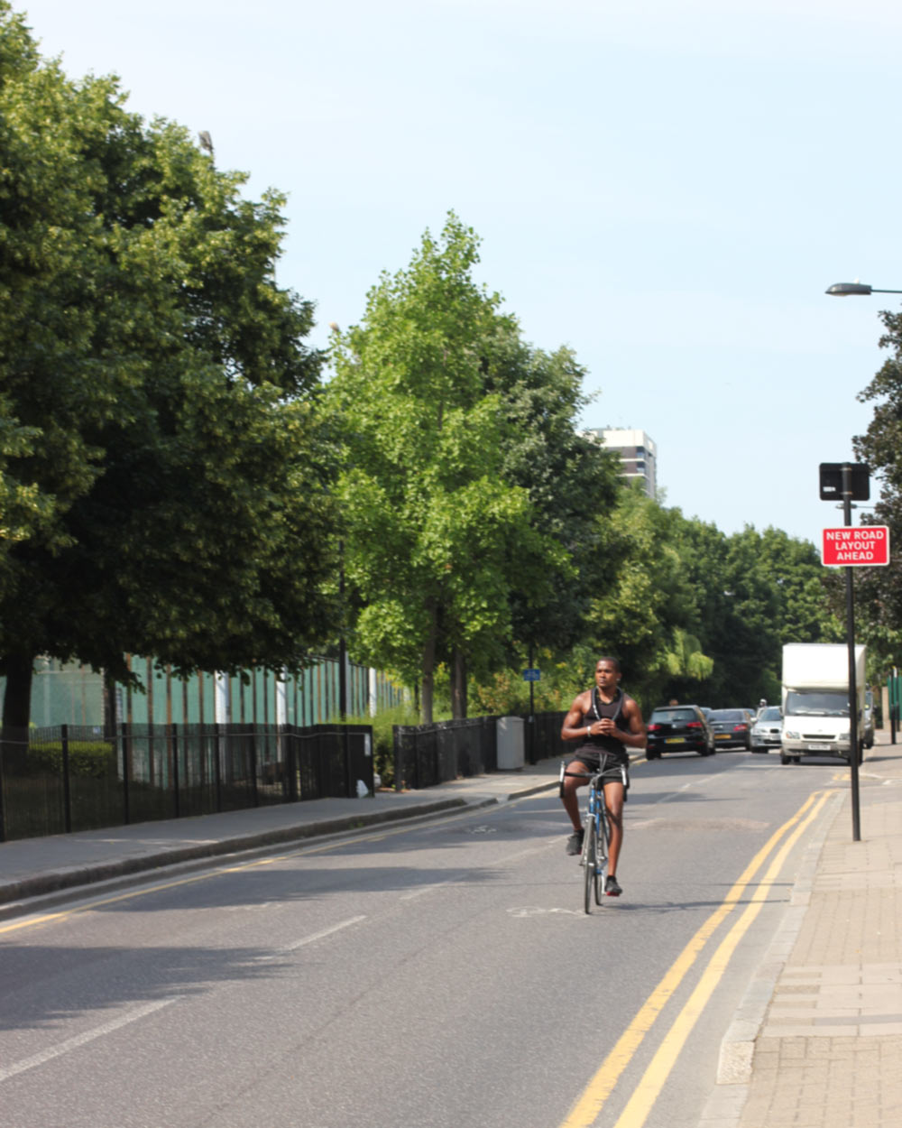 Riding a bike with no hands in London, Summer 2013
