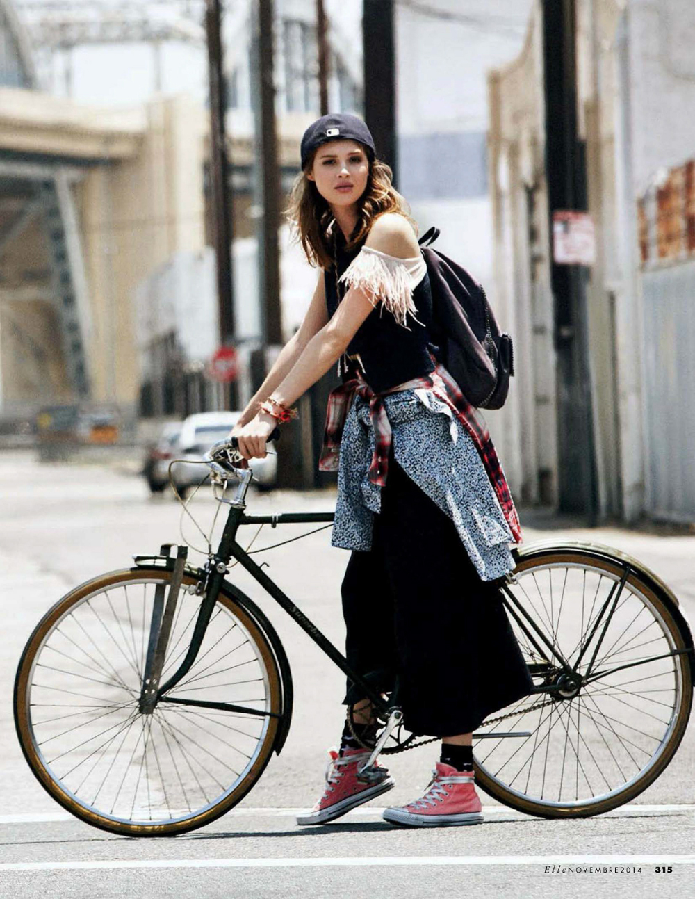 That skirt might get caught in the spokes though.