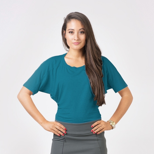 The Iladora Lisa Top in Teal