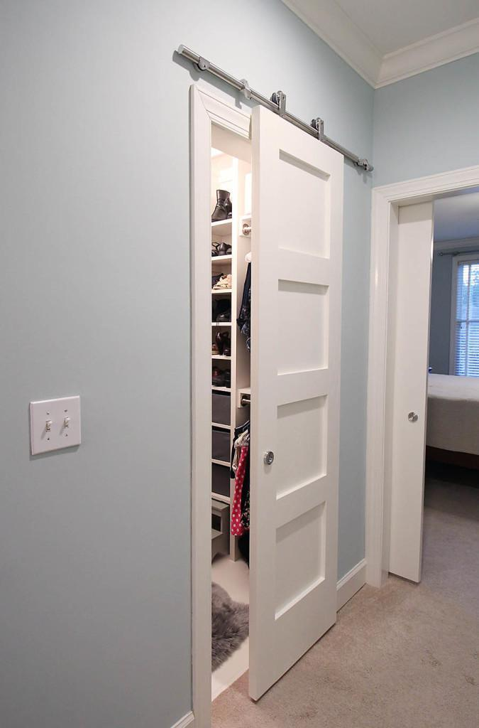 Awesome If Your Closet Is Less A Room And More An Alcove, Make It Stand Out With A  Sliding Barn Style Door. By Building Your Own Sliding Door, You Can Update  Your ...