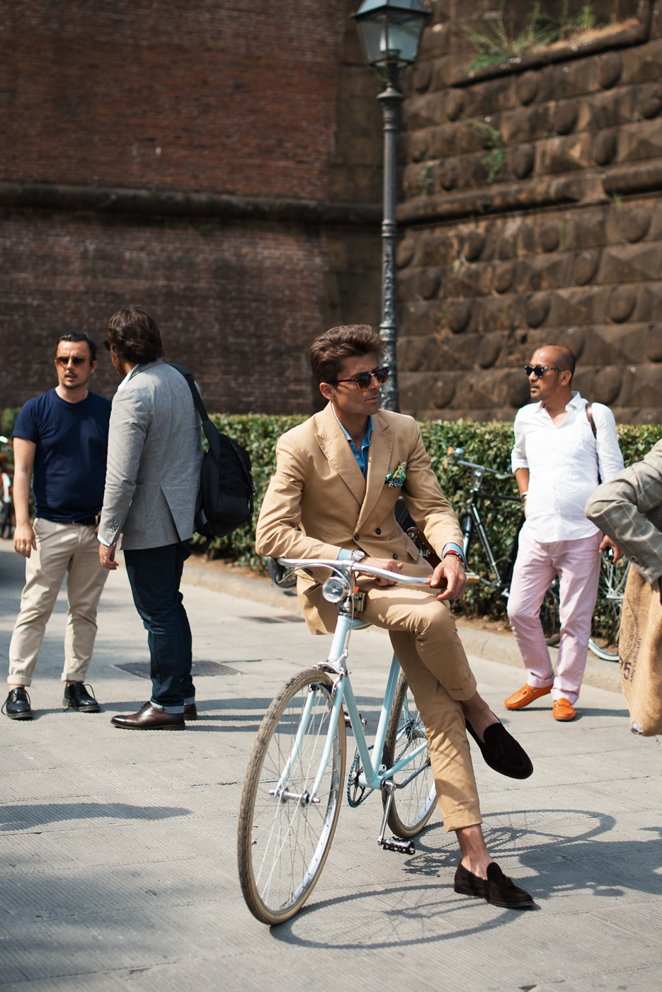 Cycle Chic at Pitti Uomo, via Men In This Town blog