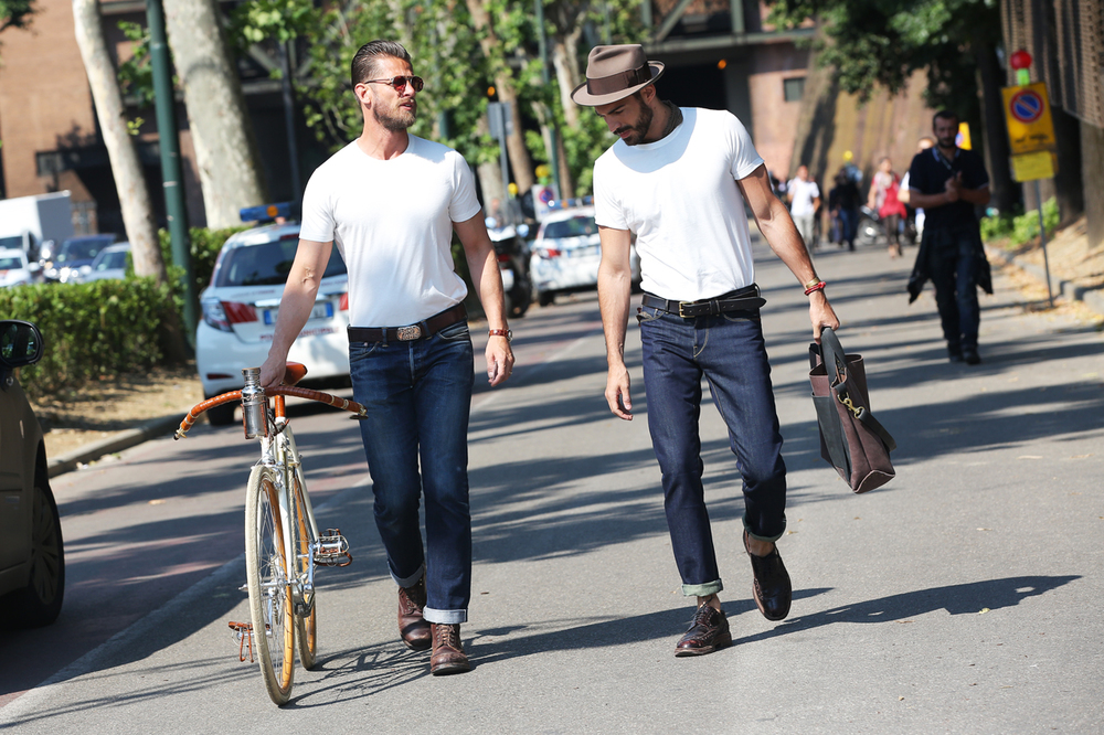 Not to be outdone by it's Northern counterpart, Florence always gives great cycle chic when Pitti Uomo rolls into town.