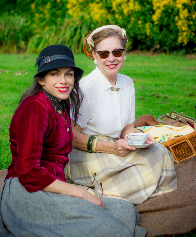 Melinda Greene (left) did a fabulous job organizing the SF Tweed Ride this year.