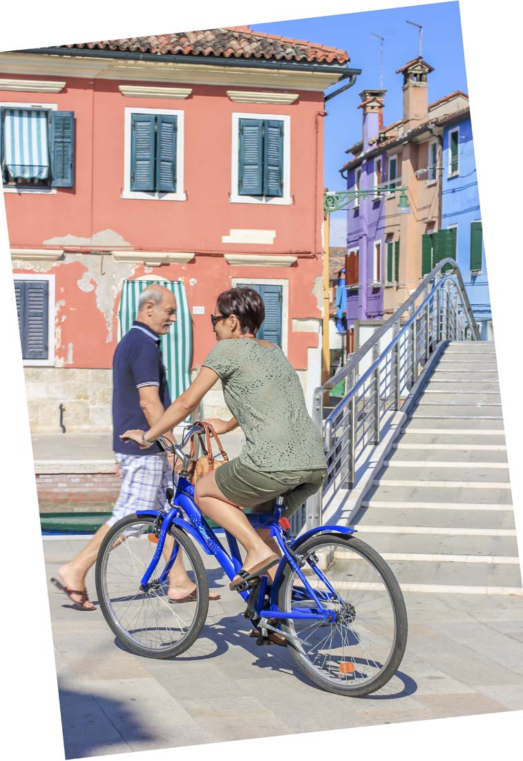 Burano also gets bonus points because it is actually bikeable, unlike Venice,ahem.See also the Lido.