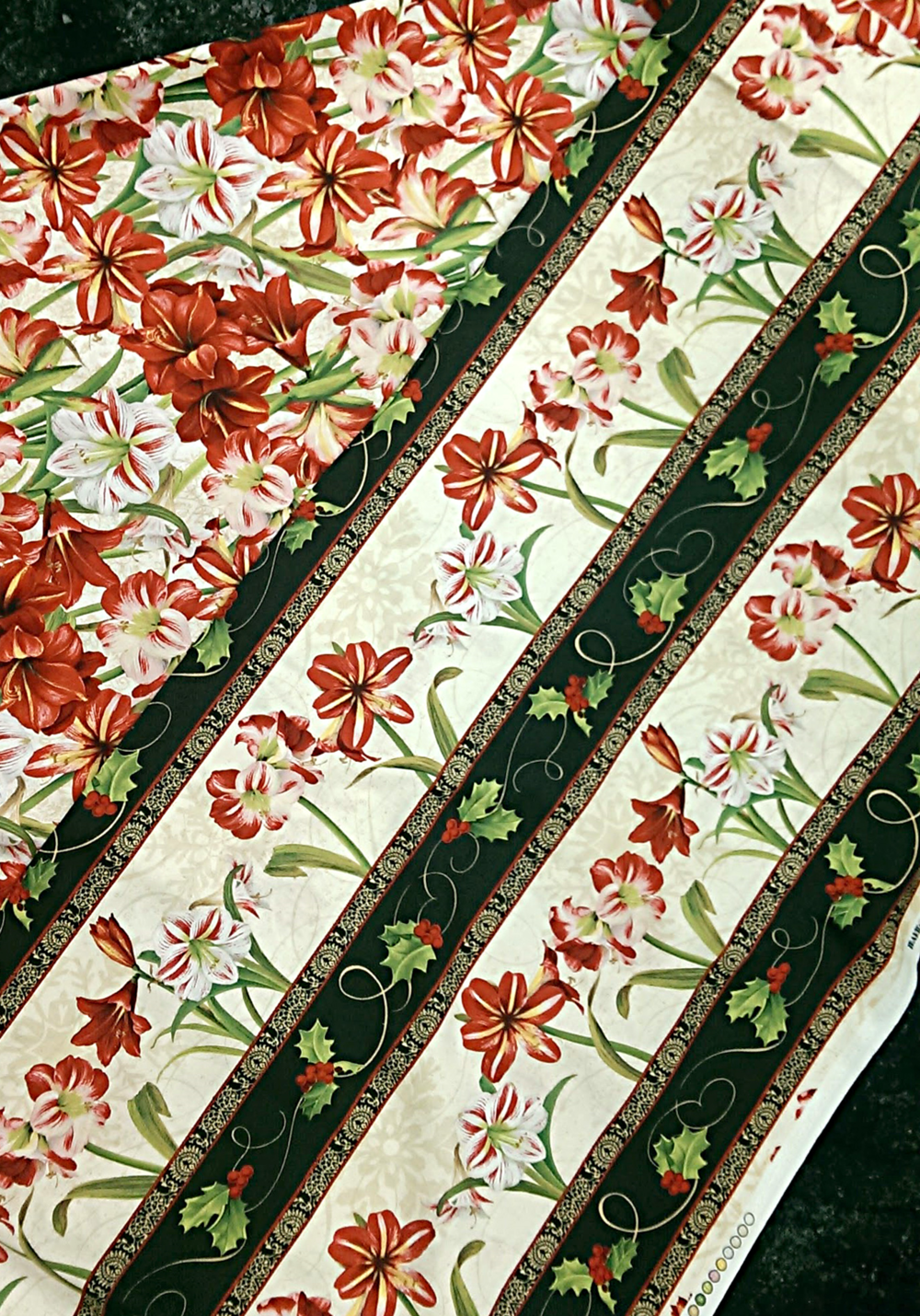 Fabrics to Compliment Amaryllis Panel