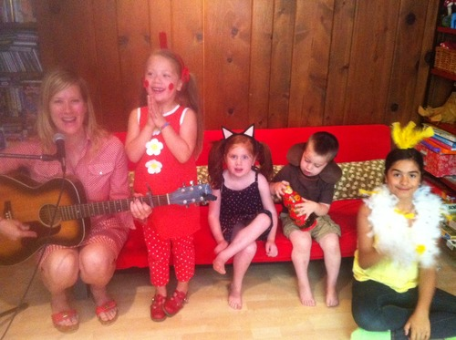 The Good Ms Padgett and friends on the Red Couch, Merryland