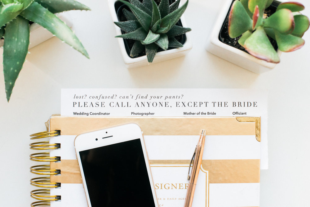 Call anyone, except the bride list for wedding day